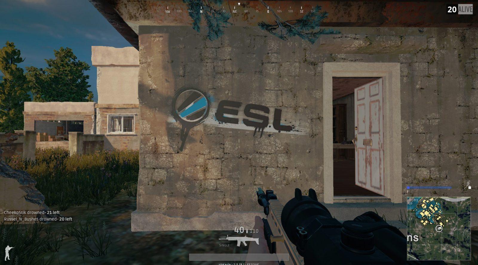 ESL стало официальным партнером PUBG иполучило свое лого накарте