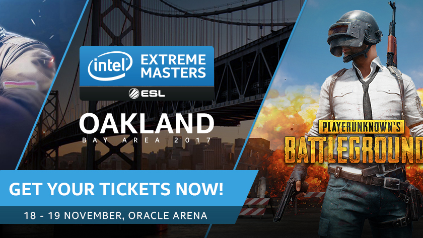 Intel Extreme Masters анонсирует турнир Oakland PUBG Invitational за$200000— <nobr>18-19 ноября</nobr>