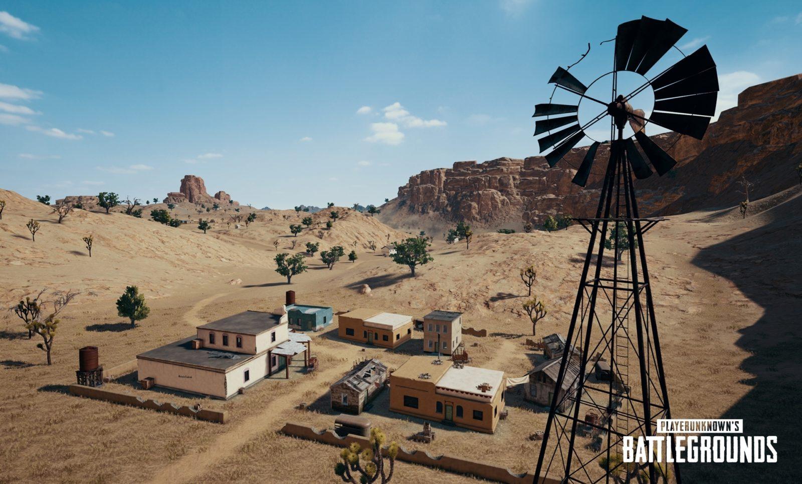 Название искриншоты городов новой пустынной карты «Мирамар»