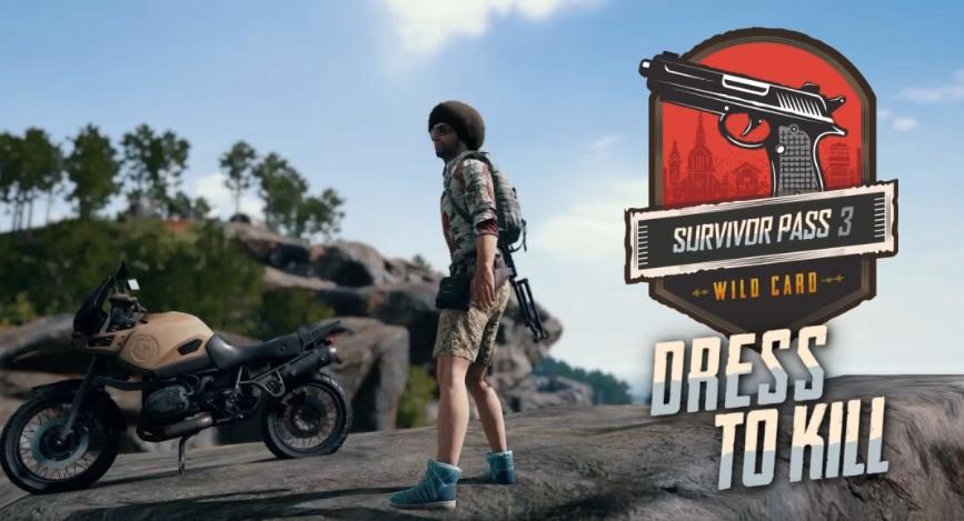 В PUBG добавлен новый боевой пропуск «Билет выжившего 3: Дикая Карта»