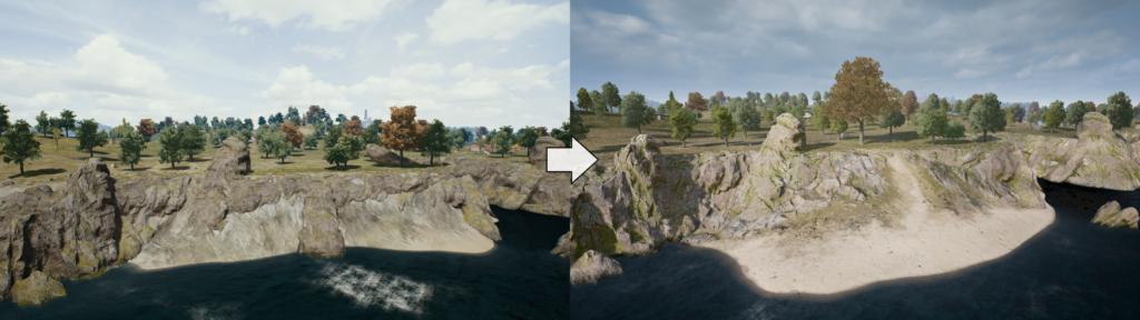 Различные изменения ландшафта