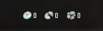 Сколько дисков вы собрали, можно увидеть в инвентаре