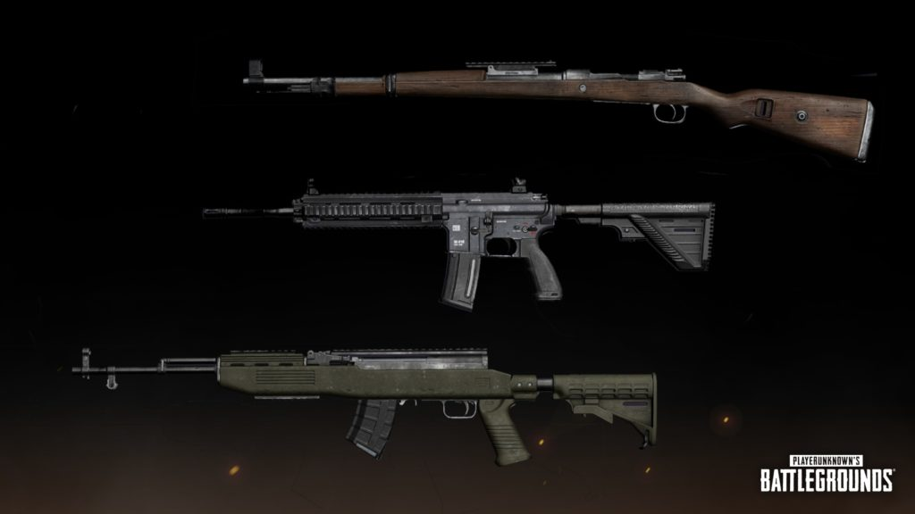 Модели M416, СКС и Kar98k