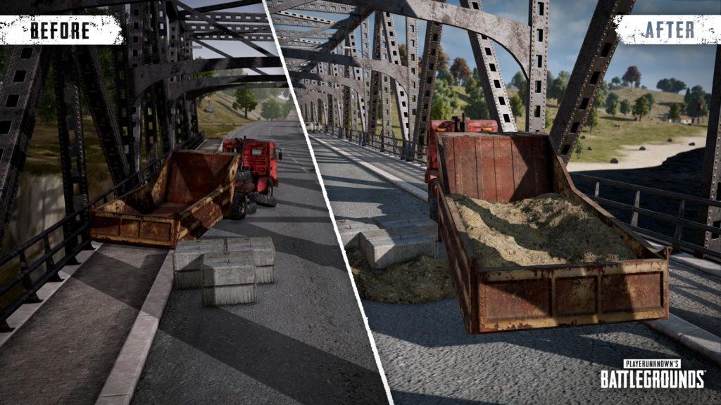 Добавлены помосты.После взрыва транспорта или при перемещении пешком игроки смогут использовать новые помосты, чтобы преодолеть узкое место.