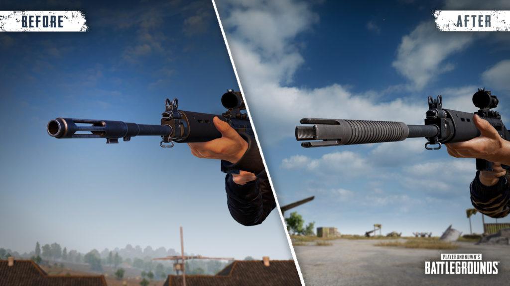 У SLR добавлена новая модель ствола. При использовании пламегасителя на SLR у него появляется новая модель.