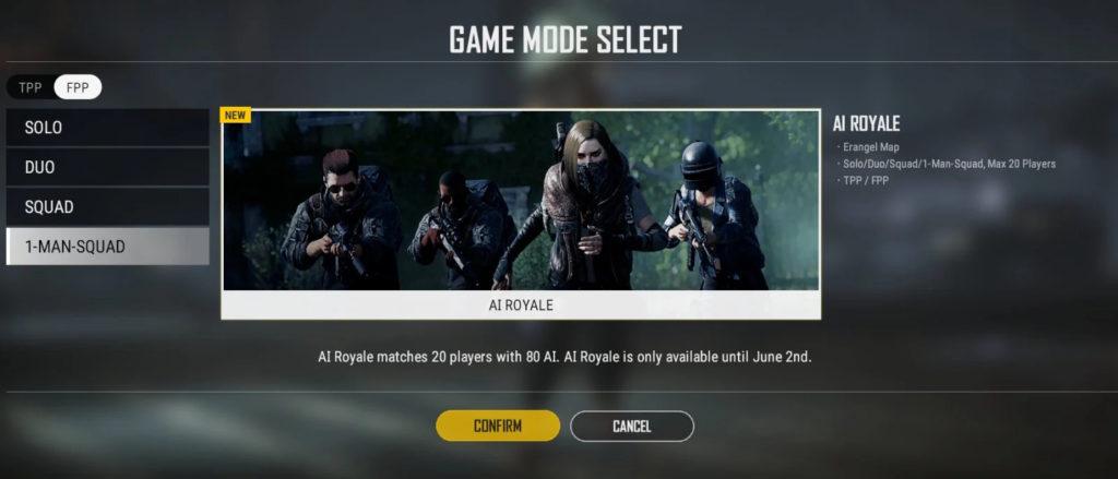 новый игровой режим «AI Royale»