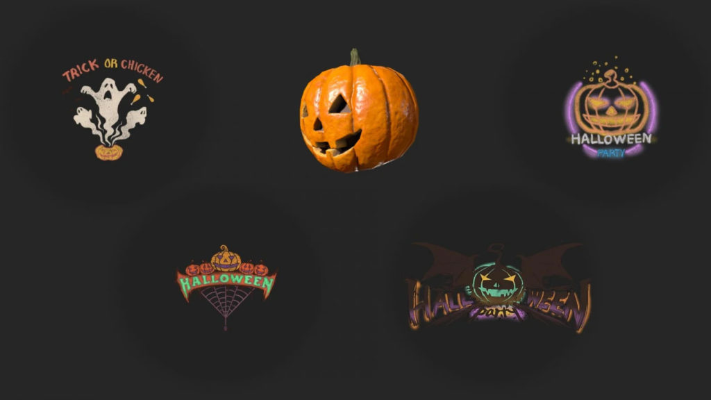 граффити через Twitch Drops в честь праздника «Хэллоуин»